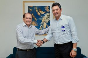 Na Coamo, Sérgio e Gallassini conversam sobre políticas agrícolas e cooperativismo