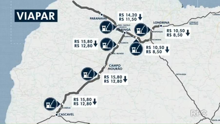 Concessionárias baixam preços dos pedágios no Paraná após decisão judicial